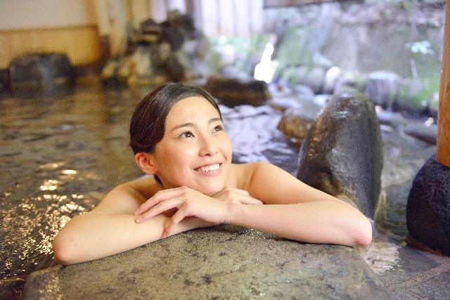 温泉でリラックス