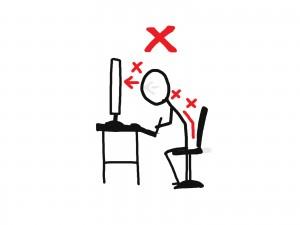 坐骨神経痛の原因となる悪い姿勢